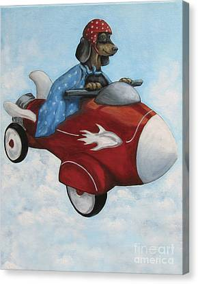 Elvis Flies For K9 Air Canvas Print by Robin Wiesneth