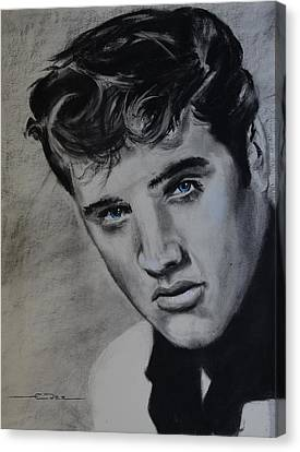 Canvas Print featuring the drawing Elvis Presley - America by Eric Dee