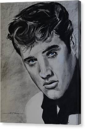 Elvis Presley - America Canvas Print by Eric Dee