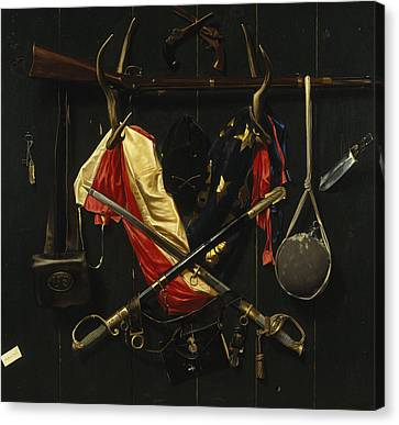 Canteen Canvas Print - Emblems Of The Civil War by Mountain Dreams