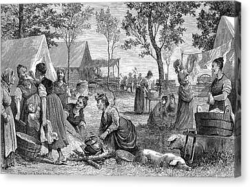 Emigrants Arkansas, 1874 Canvas Print by Granger