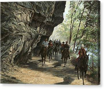 Trail Ride Canvas Print - Eminence Trail Ride by Don  Langeneckert