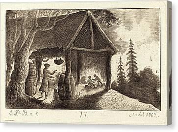 Emmanuel Phélippes-beaulieu, French Born 1829 Canvas Print