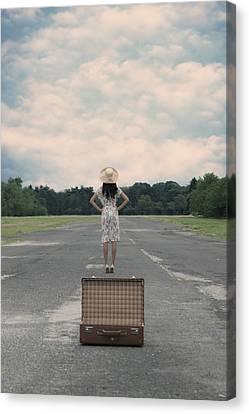 Empty Suitcase Canvas Print by Joana Kruse
