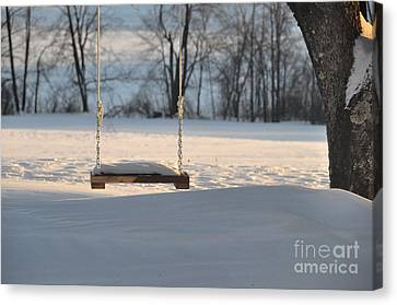 Canvas Print featuring the photograph Empty Swing by John Black