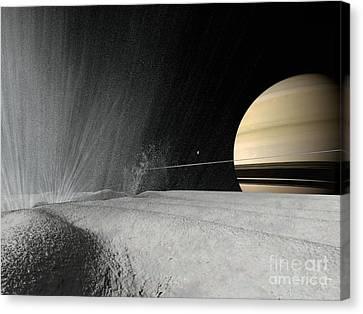 Enceladus, Artwork Canvas Print by Walter Myers