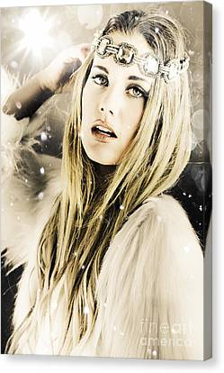 Enchanting Snow Princess Canvas Print by Jorgo Photography - Wall Art Gallery