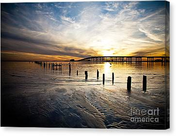 End Of Day Canvas Print by Joan McCool
