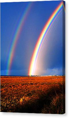 End Of The Rainbow Canvas Print by Ron Regalado