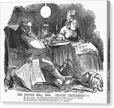 Reform Canvas Print - England Reform Bill, 1866 by Granger