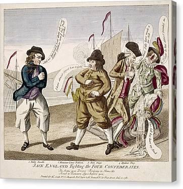 England's War, 1781 Canvas Print by Granger