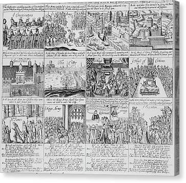 English Civil War Scenes Canvas Print