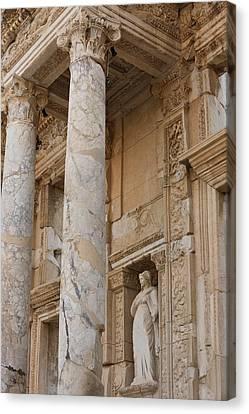 Ephesus Library Canvas Print by David Parker