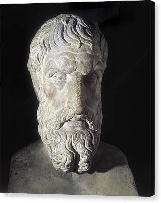 Epicurus 341-270 Bc. Greek Philosopher Canvas Print by Everett