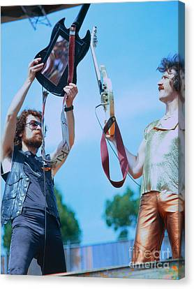 Eric Bloom And Buck Dharma Of Blue Oyster Cult At Day On The Green In Oakland Canvas Print by Daniel Larsen