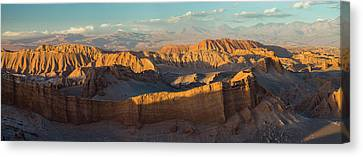 Eroded Hills At Sunset In The Atacama Canvas Print by Panoramic Images