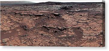 Erosion On Mars Canvas Print by Nasa/jpl-caltech/msss