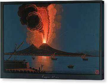 Eruption Of Mt. Vesuvius Canvas Print by British Library
