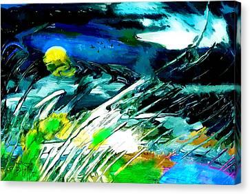 Canvas Print featuring the painting Esperanto by Ron Richard Baviello