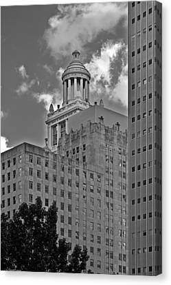 Esperson Buildings Houston Tx Canvas Print by Christine Till