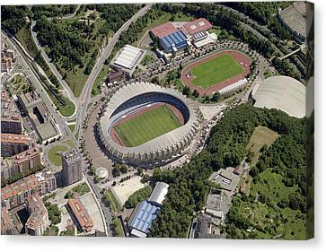 Estadio Anoeta Canvas Print by Blom ASA