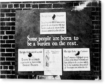 Eugenics Exhibit At Public Fair Canvas Print by American Philosophical Society