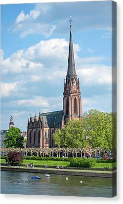 Gothic Germany Canvas Print - Europe, Germany, Hessen, Frankfurt by Jim Engelbrecht