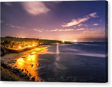 Evening At Hookipa Canvas Print by Hawaii  Fine Art Photography