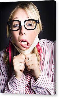 Exhausted Nerd Breaks Free From Silence Canvas Print