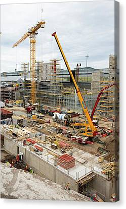 Norway Canvas Print - Expansion Work At Oslo Airport In Norway by Ashley Cooper