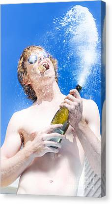 Exploding Champagne Spray Canvas Print by Jorgo Photography - Wall Art Gallery