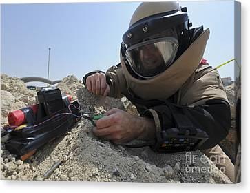 Explosive Ordnance Disposal Technician Canvas Print by Stocktrek Images