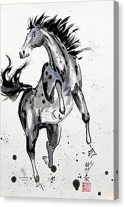 Canvas Print featuring the painting Exuberance by Bill Searle