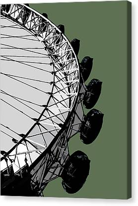 Eye - Olive Green Canvas Print by Big Fat Arts