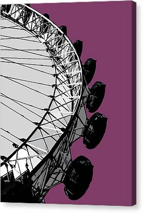 Eye - Purple Reign Canvas Print by Big Fat Arts