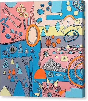 Eyeshut Scene Canvas Print by Susan Claire