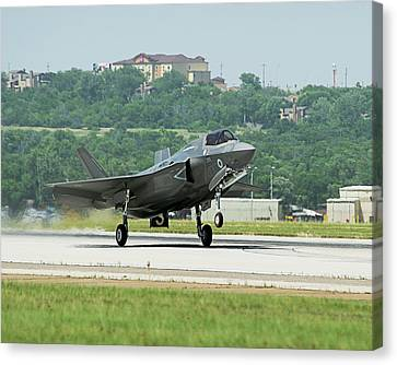 F-35b Fighter Jet Canvas Print by Us Defense