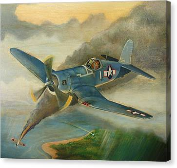 F4u Corsair Canvas Print by Stuart Swartz