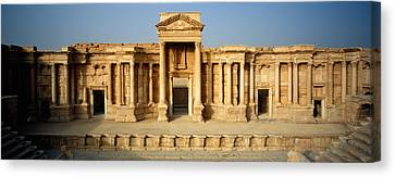 Facade Of A Building, Palmyra, Syria Canvas Print by Panoramic Images