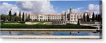 Facade Of A Monastery, Mosteiro Dos Canvas Print