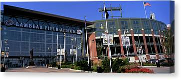 Lambeau Field Canvas Print - Facade Of A Stadium, Lambeau Field by Panoramic Images