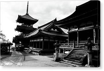 Facade Of A Temple, Kiyomizu-dera Canvas Print