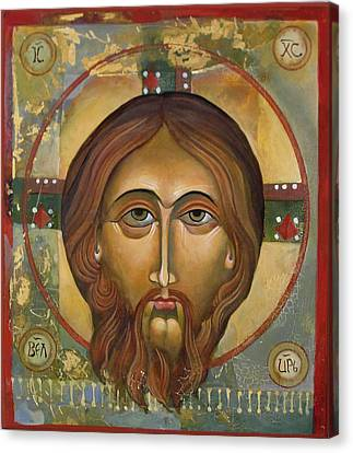 Face Of Christ Canvas Print by Mary jane Miller