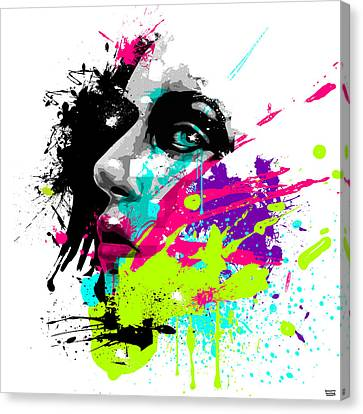 Illustrations Canvas Print - Face Paint 2 by Jeremy Scott