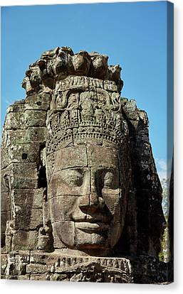 Bodhisattva Canvas Print - Face Thought To Depict Bodhisattva by David Wall