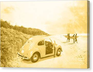 Faded Film Surfing Memories Canvas Print by Jorgo Photography - Wall Art Gallery