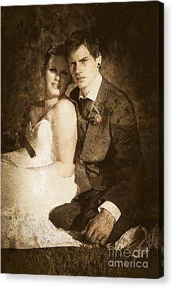 Nuptials Canvas Print - Faded Vintage Wedding Photograph by Jorgo Photography - Wall Art Gallery