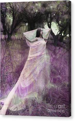 Fairy In The Orchard Canvas Print by Angel  Tarantella