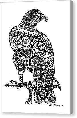 Falcon Canvas Print by Lamarr Kramer
