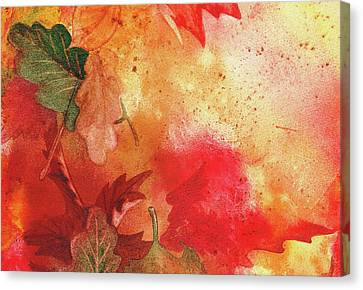 Maple Season Canvas Print - Fall Impressions  by Irina Sztukowski